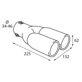 Deflector tubo de escape para coches de PILOT - a precio económico