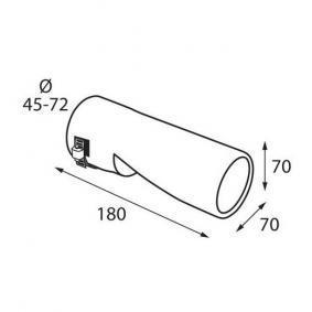 60118 Deflector tubo de escape para vehículos