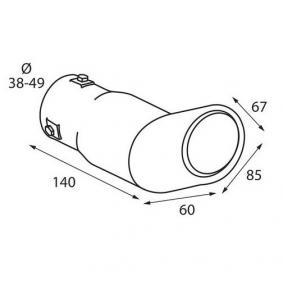 60087 Deflector tubo de escape para vehículos