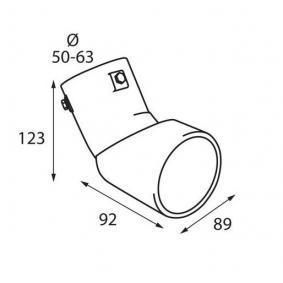 60096 Deflector tubo de escape para vehículos