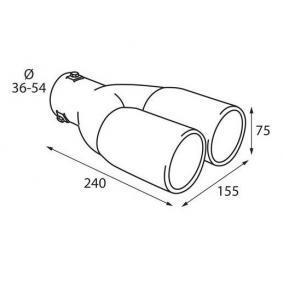 60077 Deflector tubo de escape para vehículos