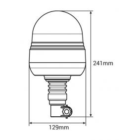Autós 71026/01501 Figyelmeztető lámpa