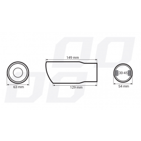 AMiO Exhaust Tip 01311/71011 on offer