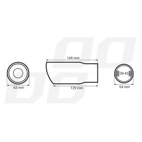 AMiO Deflector do tubo de escape 01311/71011 em oferta
