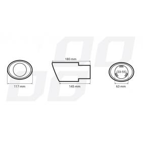 01314/71014 AMiO Deflector do tubo de escape mais barato online