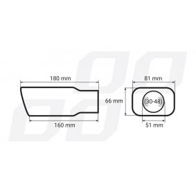 01315/71015 Teava de capat pentru vehicule