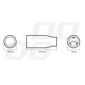 Pakoputken pää autoihin AMiO-merkiltä - halvalla
