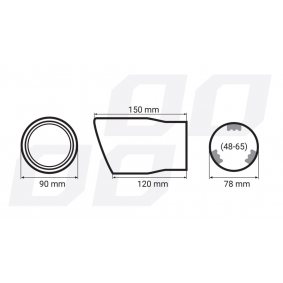 01117/71764 Exhaust Tip for vehicles