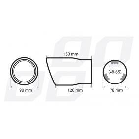 01117/71764 Deflector do tubo de escape para veículos