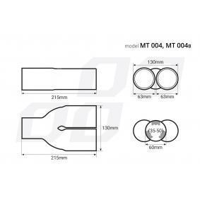 02194 Накрайник за тръбата на аспуха за автомобили