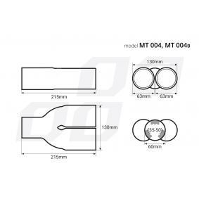02194 Deflector do tubo de escape para veículos