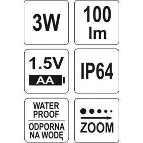 YT-08571 Håndlampe til køretøjer
