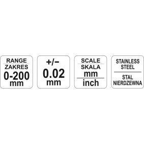 YATO Calibrador vernier YT-72003 tienda online