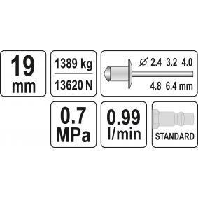 YATO Pistola de rebitar YT-3618 loja online