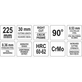 YT-1914 Blikschaar van YATO gereedschappen van kwaliteit
