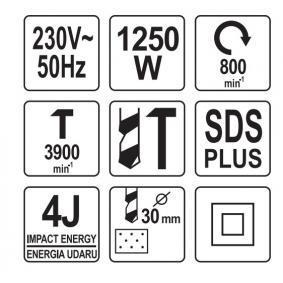 YATO Kit de martelos buriladores YT-82125 loja online