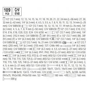 YT-38891 Kit de herramientas de YATO herramientas de calidad
