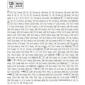 Kit de herramientas de YATO YT-38801 en línea