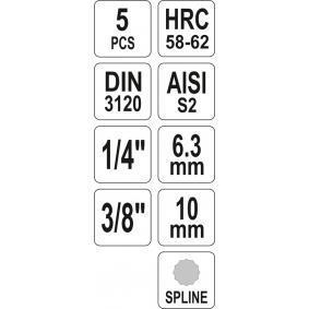 Kit chiavi a bussola di YATO YT-04360 on-line