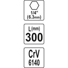 YT-14001 Verlängerung, Steckschlüssel von YATO Qualitäts Werkzeuge