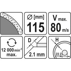 YT-6012 Tarcza rozdzielająca, szlifierka kątowa od YATO narzędzia wysokiej jakości