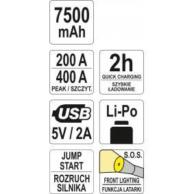 YT-83080 Akkulataaja / -käynnistin ajoneuvoihin