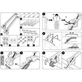 MOCSOB0AL00000009 Estrutura de transporte no tejadilho / barras de tejadilho para veículos