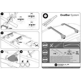 Estrutura de transporte no tejadilho / barras de tejadilho para automóveis de MODULA - preço baixo