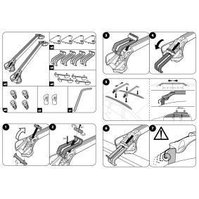 MODULA Střešní nosiče / střešní tyčky MOCSOB0AL00000012