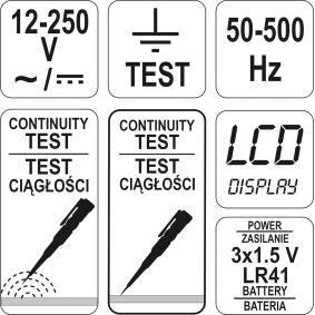 YT-28630 Spanningtester van YATO gereedschappen van kwaliteit