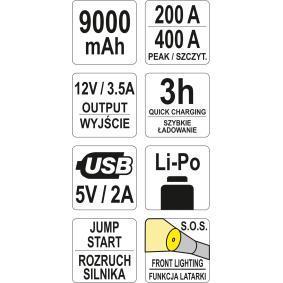 YT-83081 Akkulataaja / -käynnistin ajoneuvoihin
