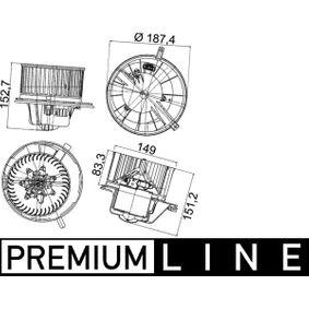 Interior Blower MAHLE ORIGINAL Art.No - AB 148 000P OEM: 1K1819015E for VW, AUDI, VOLVO, SKODA, SEAT buy