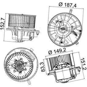 MAHLE ORIGINAL Innenraumgebläse 3C0907521B für VW, AUDI, SKODA, SEAT, CUPRA bestellen