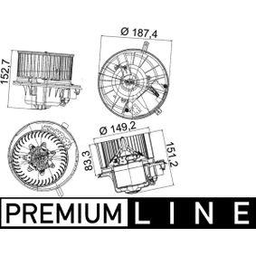 Interior Blower MAHLE ORIGINAL Art.No - AB 149 000P OEM: 1K1819015D for VW, AUDI, VOLVO, SKODA, SEAT buy
