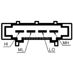 MAHLE ORIGINAL Odpor vnitřního ventilátoru ABR 98 000P