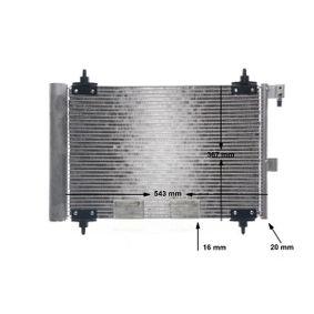 MAHLE ORIGINAL Kondensator, Klimaanlage 6455Y9 für FIAT, PEUGEOT, CITROЁN, VOLVO, PIAGGIO bestellen