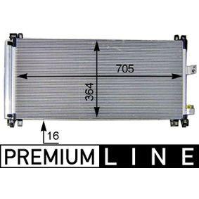Kondensator, Klimaanlage MAHLE ORIGINAL Art.No - AC 597 000P OEM: 6455HR für PEUGEOT, CITROЁN, VOLVO kaufen