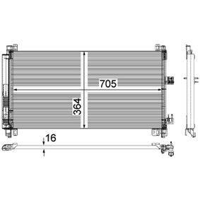 MAHLE ORIGINAL Kondensator, Klimaanlage 6455HR für PEUGEOT, CITROЁN, VOLVO bestellen