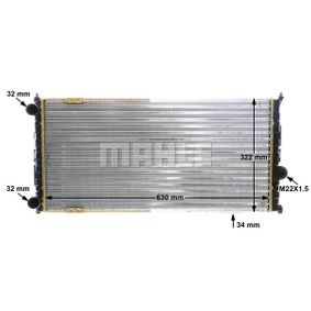 MAHLE ORIGINAL Ψυγείο, ψύξη κινητήρα CR 363 000S