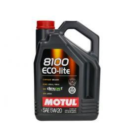 Двигателно масло SAE-5W-20 (109104) от MOTUL купете онлайн