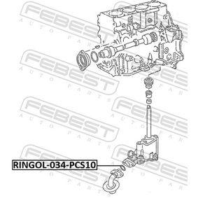 Těsnění, pouzdro olejového filtru RINGOL-034-PCS10 FEBEST