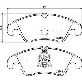 JAPANPARTS Bremsbelagsatz, Scheibenbremse 1567730 für VW, FORD bestellen