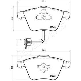 JAPANPARTS Bremsbelagsatz, Scheibenbremse 4F0698151D für VW, AUDI, SKODA, SEAT, PORSCHE bestellen