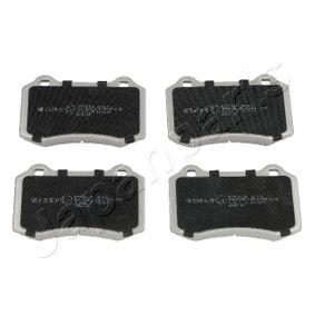 Bremsbelagsatz, Scheibenbremse JAPANPARTS Art.No - PP-0311AF OEM: MXD2750AA für VW, PEUGEOT, SEAT, CITROЁN, VOLVO kaufen