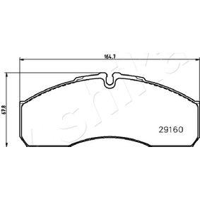 ASHIKA Bremsbelagsatz, Scheibenbremse 42536101 für VW, RENAULT, FIAT, IVECO, RENAULT TRUCKS bestellen