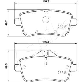 Bremsbelagsatz, Scheibenbremse ASHIKA Art.No - 51-00-0516 OEM: 0064203420 für MERCEDES-BENZ kaufen