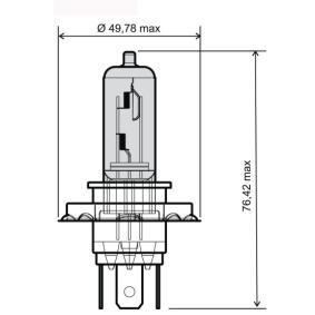 RMS Glühlampe, Fernscheinwerfer, Art. Nr.: 24 651 0050