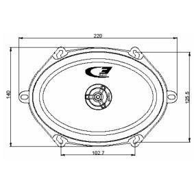 Autós SXE-5725S Hangszórók