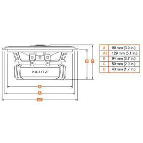 DCX 100.3 Difuzoare pentru vehicule