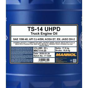 API CJ-4 Motoröl MANNOL MN7114-20 Online Shop